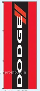 Single Face Dealer Rotator Drape Flags - Dodge