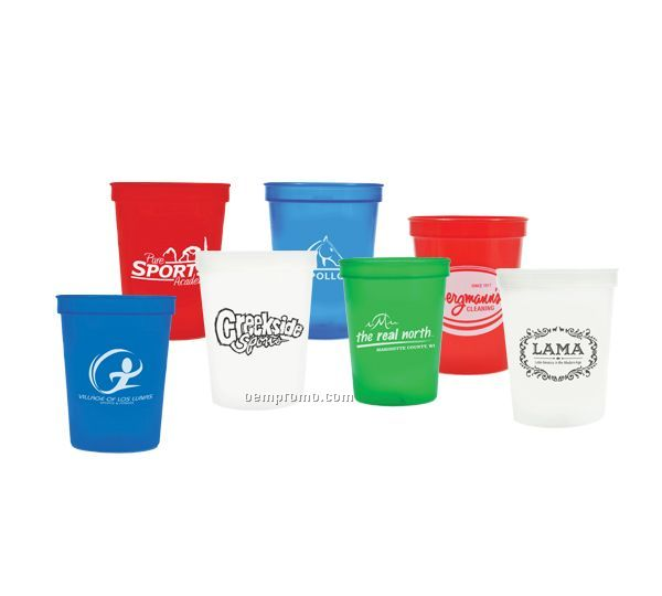 16 Oz. Biodegradable Plastic Stadium Cup