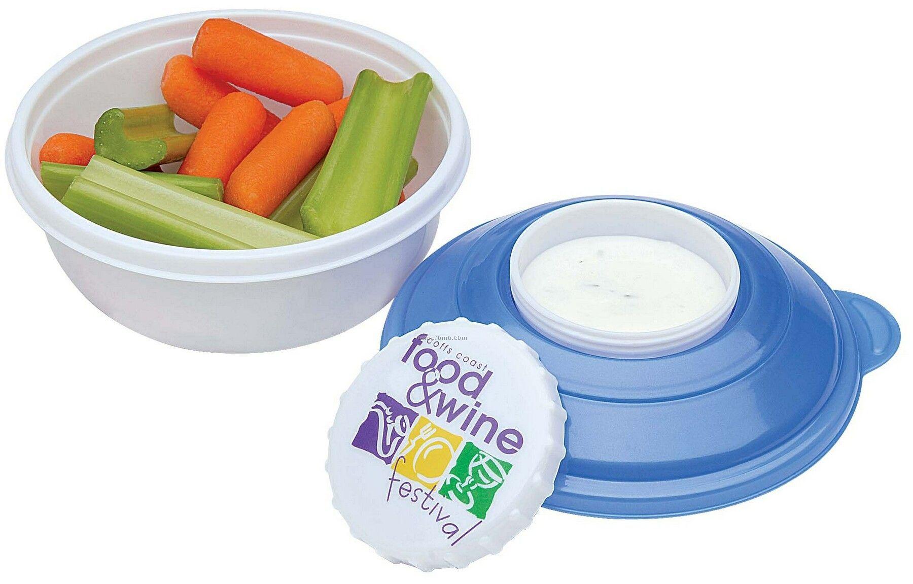 19 Oz. Rcc Koozie Snack & Dip Container