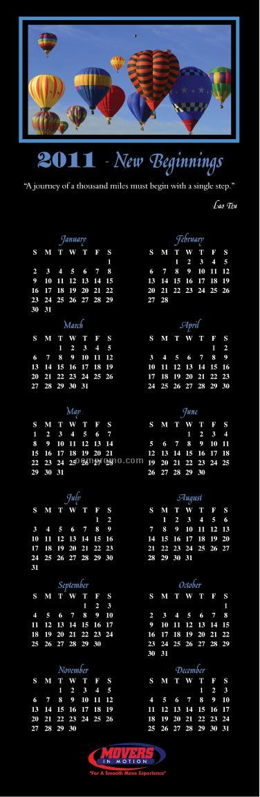 Positivity Greeting Card Wall Calendar