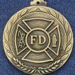 "2.5"" Stock Cast Medallion (Fire Department)"