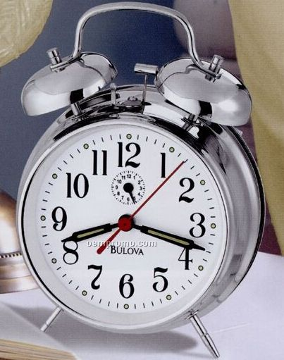 "Bulova Bellman II Bedside Alarm Clock (7""X5""X2.25"")"