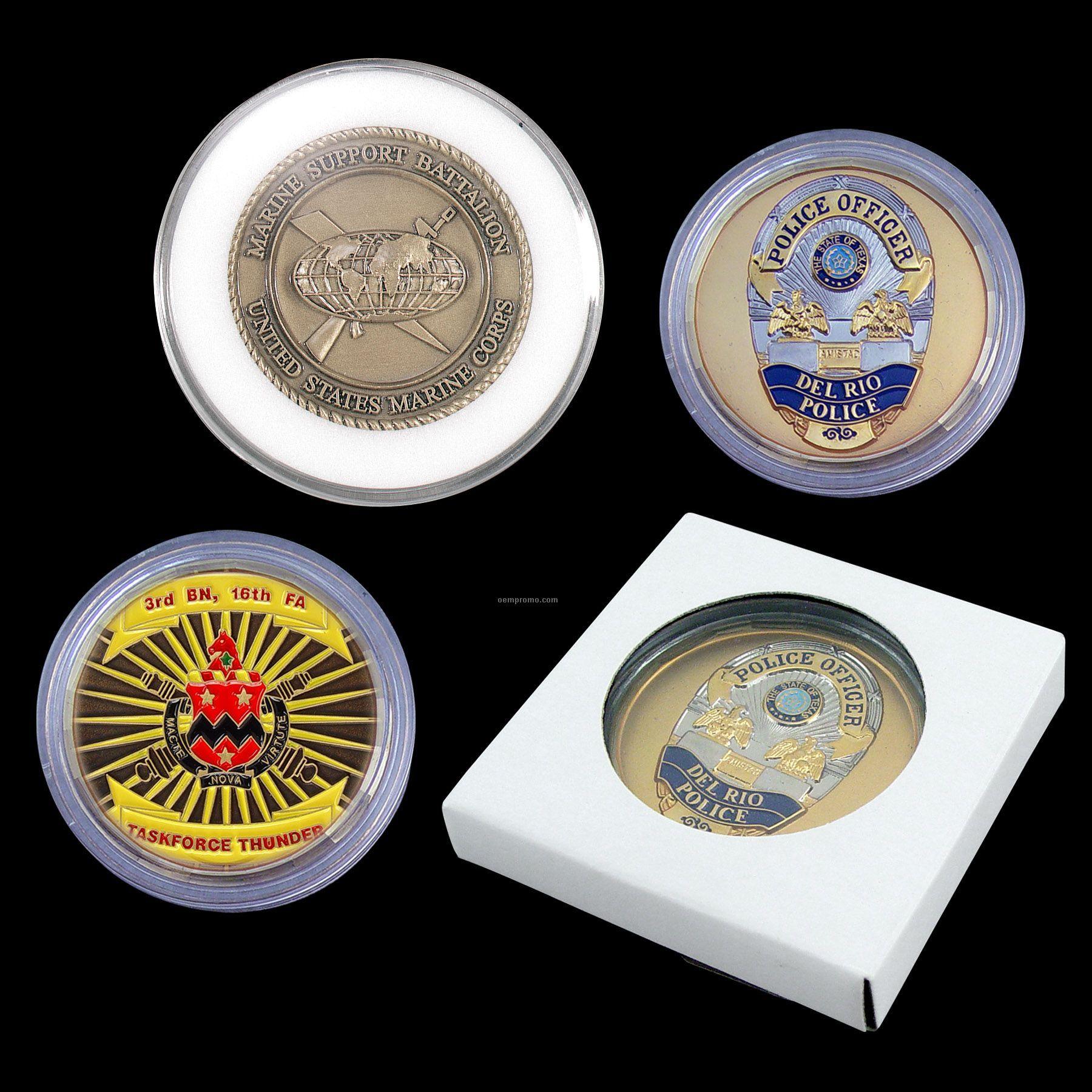 Clear Acrylic Coin Capsule