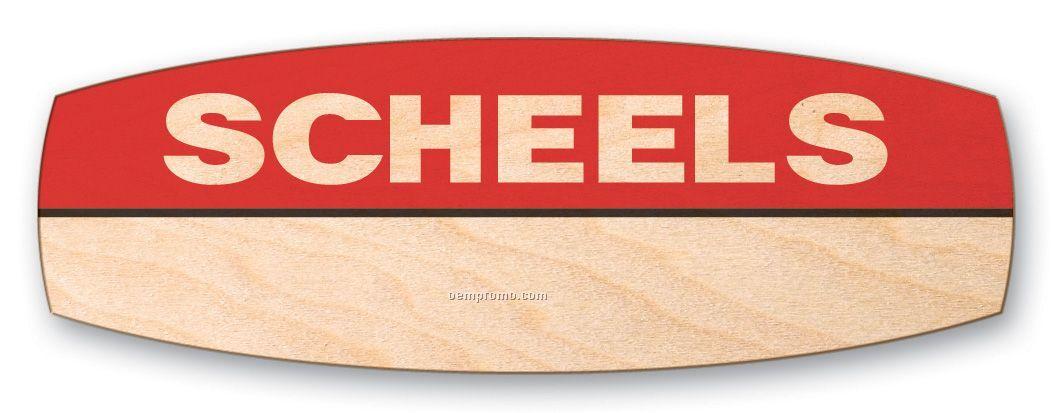 Goodkind Campfire Wood Badge Custom Shape 6-10 Sq Inches