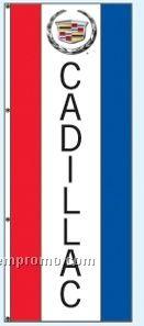 Single Face Dealer Rotator Drape Flags - Cadillac
