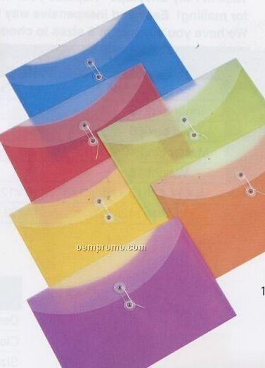 "Tangerine Orange 2 Pocket Poly Envelope (13 1/4""X9"")"