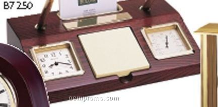 Parkston Clock Desk Set