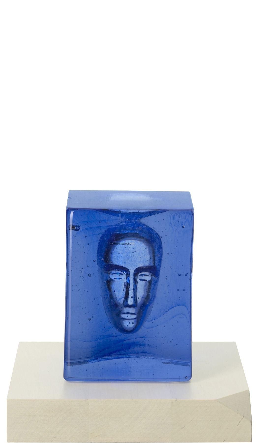 """Dreams """"Blue Man"""" Glass Art By Bertil Vallien"""