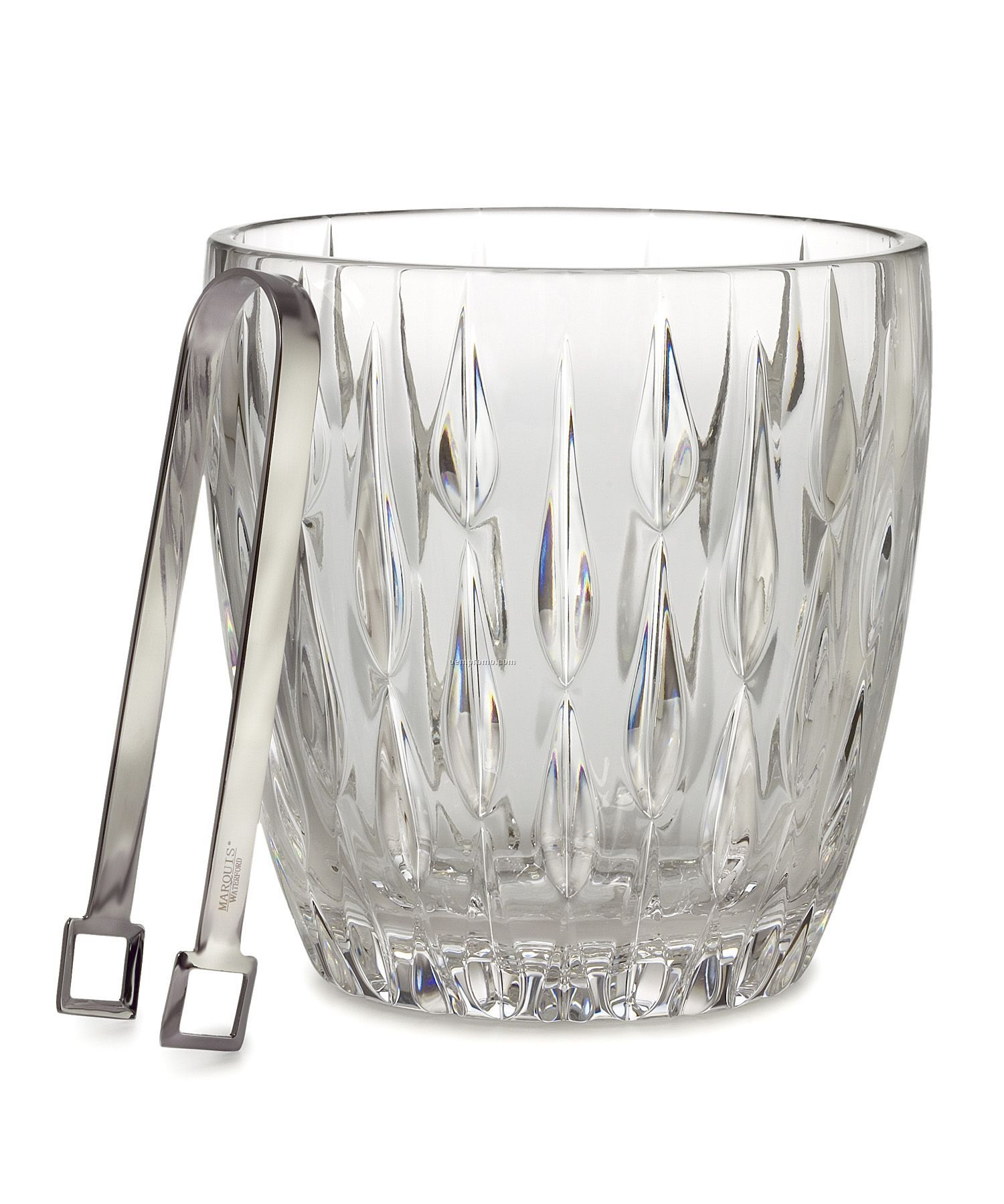 Marquis By Waterford 152048 Rainfall Ice Bucket W/Tongs