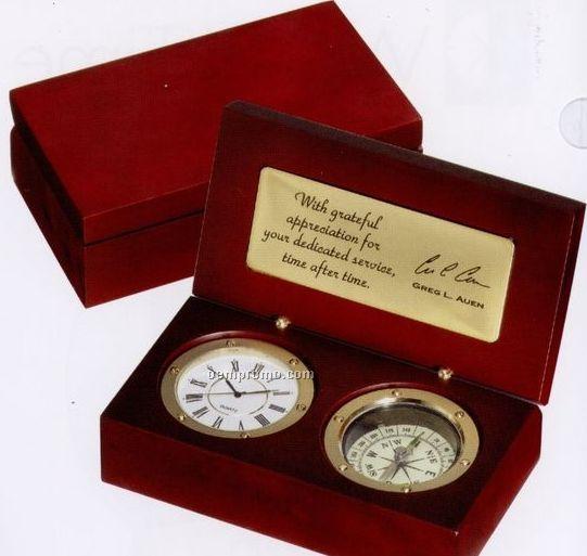 Selco Geneve True North Highlander Clock & Compass
