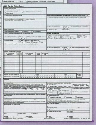2007 Ada Claim Form - Continuous (1 Part)