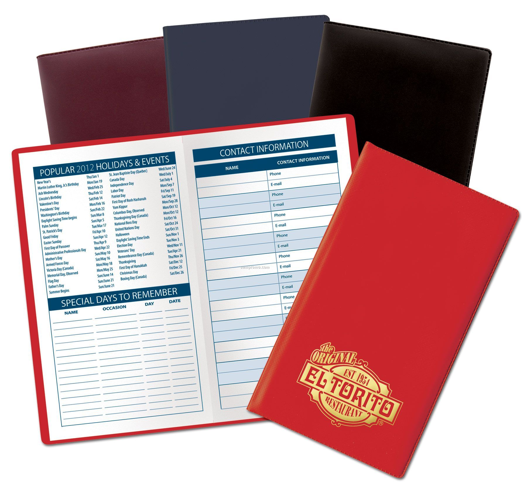 2012 Vinyl Monthly Planner - Opaque Colors (After 9/1/2011)