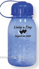 400 Ml Translucent Blue Poly Carb Water Bottle (Printed)