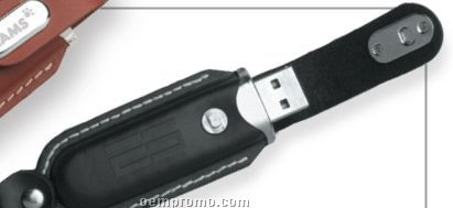 Novara Black Leatherette USB Flash Drive (8 Gb)