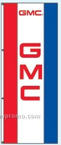 Single Face Dealer Rotator Drape Flags - Gmc