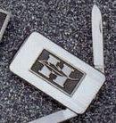 Stainless Steel Pocketknife W/ Money Clip