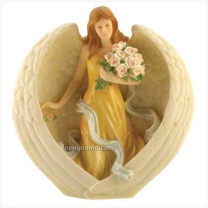 Beauty Heartform Angel Figurine