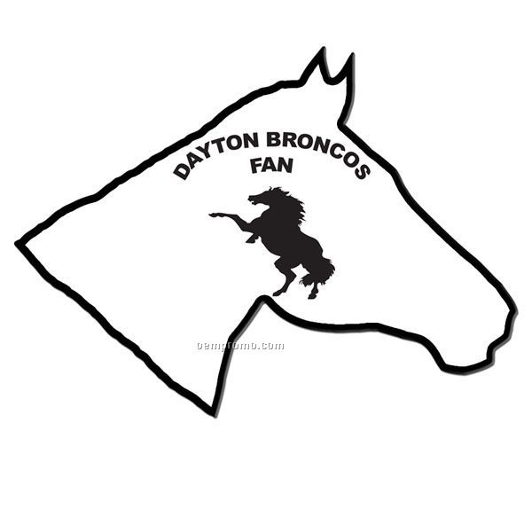 Horse Stock Shape Fan