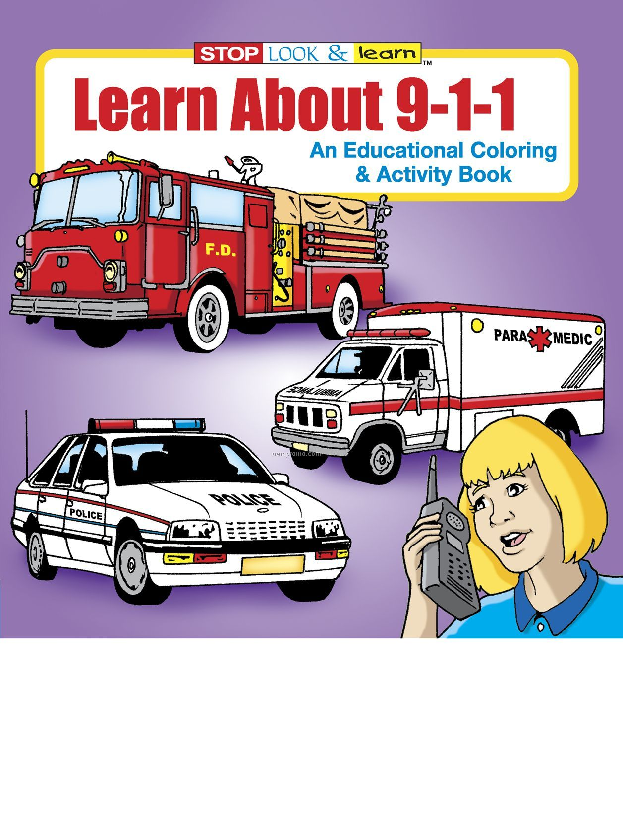 Learn About 9-1-1 Coloring Book