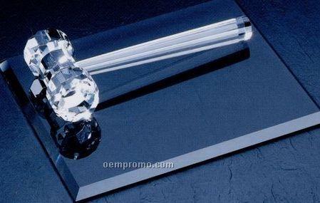"Optical Crystal Gavel (3-5/16""X8-1/2""X1-3/4"")"