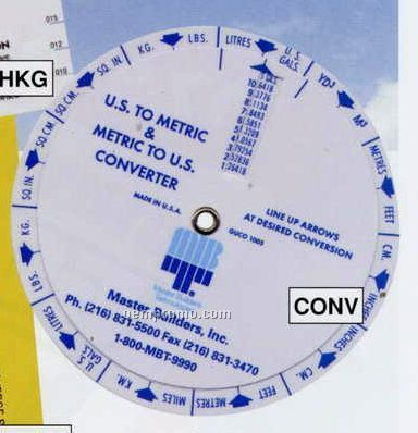 Us To Metric / Metric To Us Conversion Wheel Chart