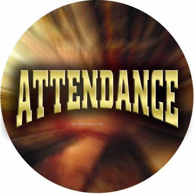 "Photo Mylar Insert - 2"" Attendance"
