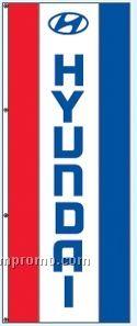 Single Face Dealer Rotator Drape Flags - Hyundai