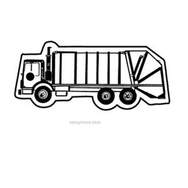 Stock Shape Collection Trash Truck 3 Key Tag