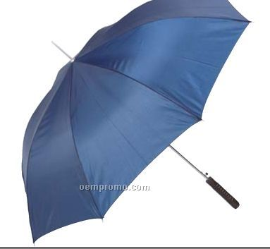 """All-weather Navy Blue 48"""" Polyester Auto Open Umbrella"""