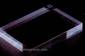 "Clear Flat Acrylic Specialty Base (3/8""X4""X4"")"