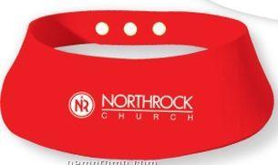 1eb3da83 Red Foam Visor W/Snap Button Closure (Printed),China Wholesale Red ...