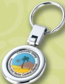 Shiny Nickel Swivel Rotating Split Key Ring (Full Color Photo Imaging)
