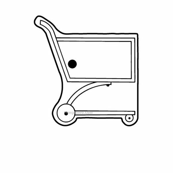 Stock Shape Collection Grocery Cart Key Tag