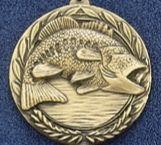 "2.5"" Stock Cast Medallion (Bass Fish)"