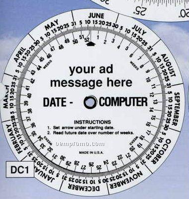 Date Computer Wheel Chart