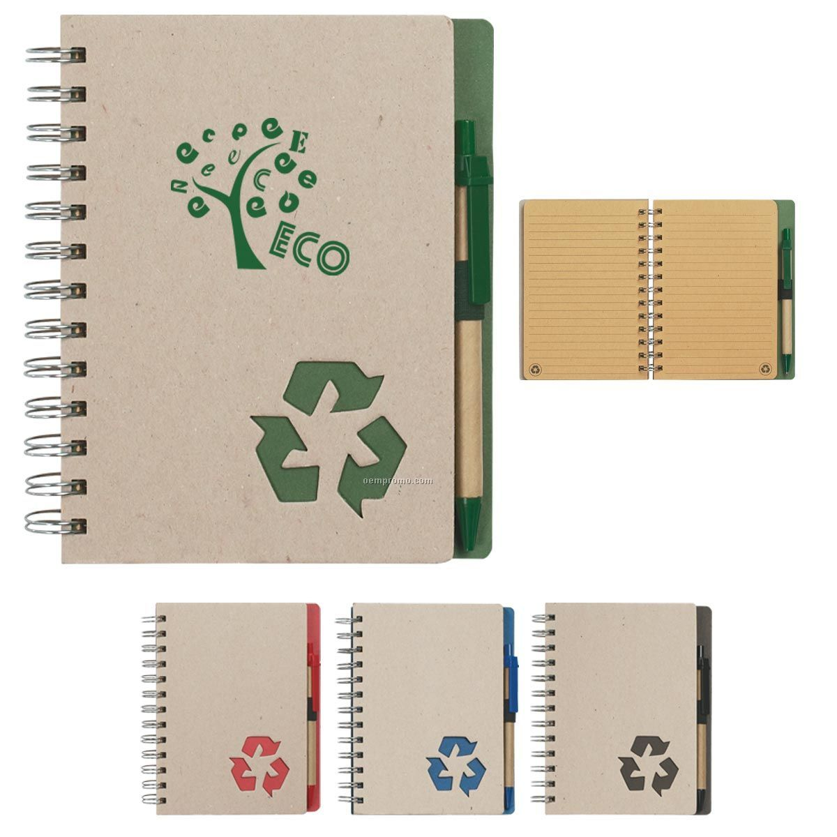 Eco-rich Spiral Notebook & Pen