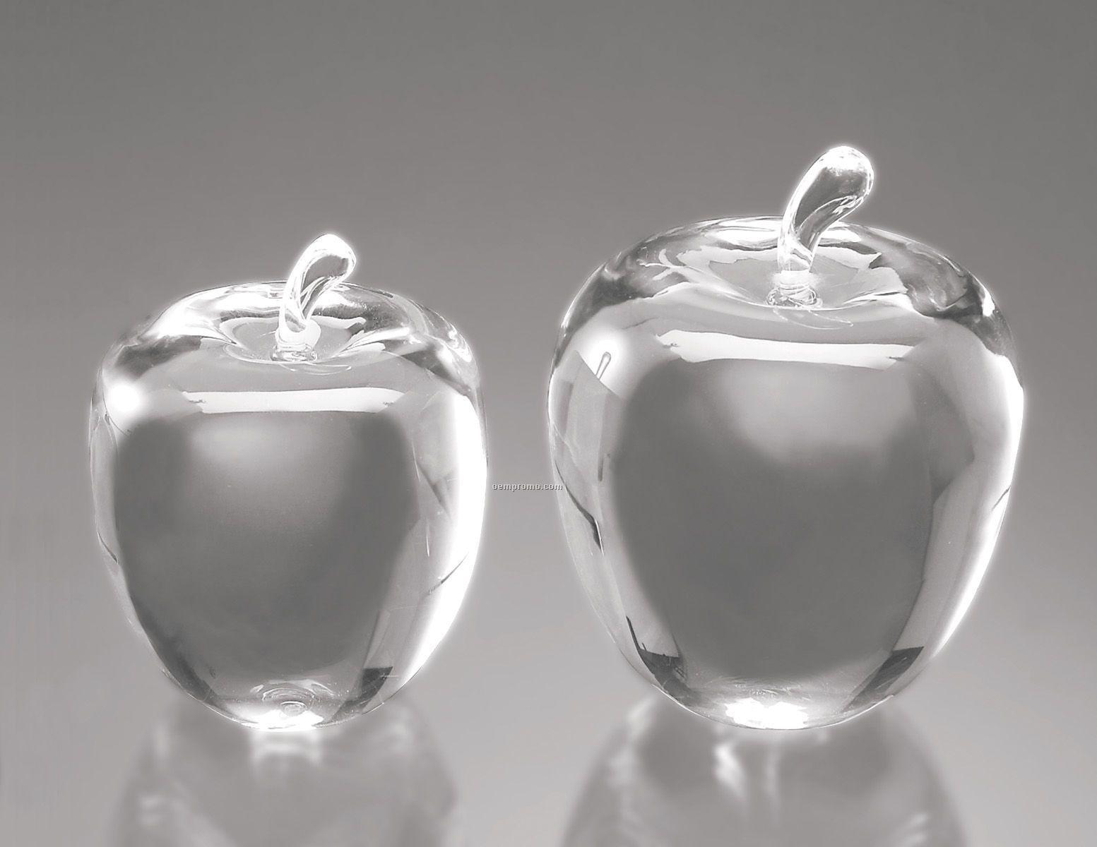 Large Optic Crystal Apple