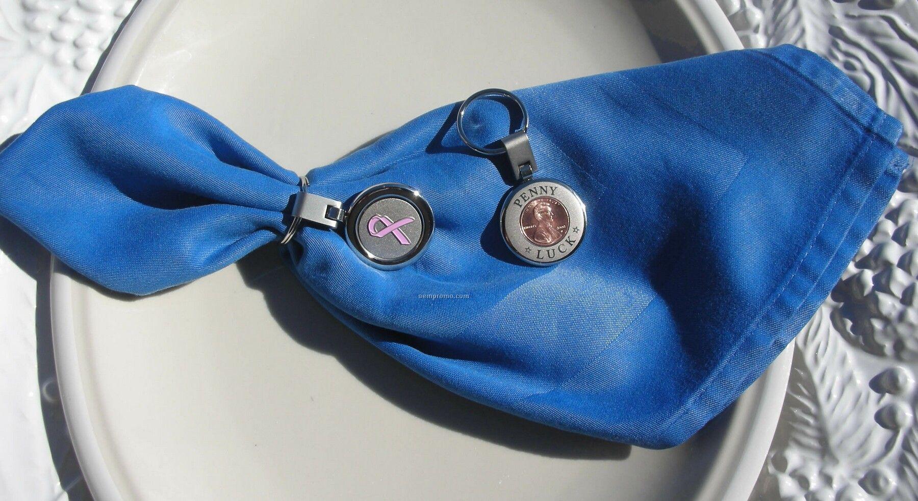 Napkin Ring W/ Pink Ribbon