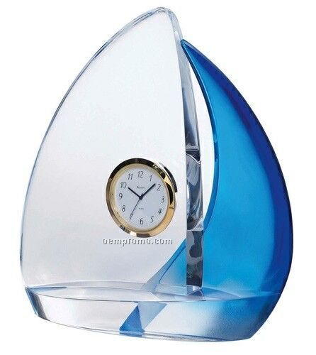 Solid Crystal Sails Clock