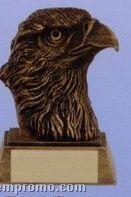 "Eagle Mascot Sculpture Award W/ Gold Base (4"")"