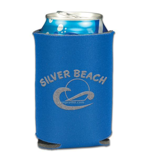Folding Foam Can Cooler - 1 Side Screen Print