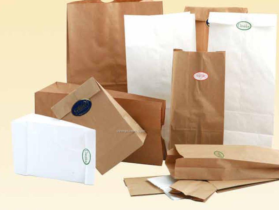 "Natural Kraft Sos 1 Qt. Grocery Bag (4 1/2"" X 2 1/2"" X 16"")"