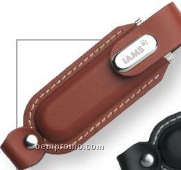 Novara Brown Leatherette USB Flash Drive (4 Gb)