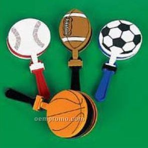 Plastic Sport Ball Clapper / Noise Maker