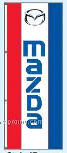 Single Face Dealer Rotator Drape Flags - Mazda