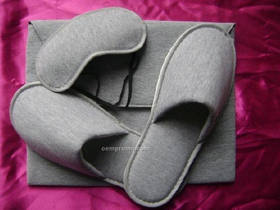 Air Slippers & Eye Mask Travel Kit