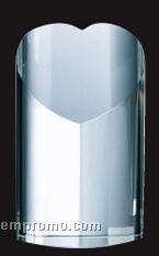 Large Optical Crystal Heart Tower Award