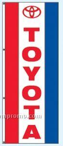 Single Face Dealer Rotator Drape Flags - Toyota