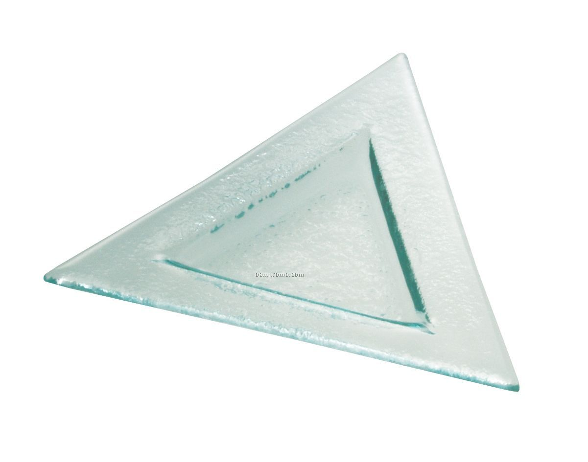 Tuscany Glass Eco Line Collection Triangle Dish