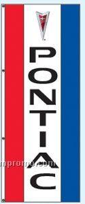 Single Face Dealer Rotator Drape Flags - Pontiac
